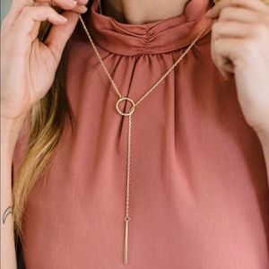 "NWT Nashelle ""Heather"" Drop Lariat necklace"